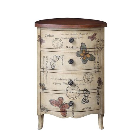 triangle drawer park artisan butterfly 4 drawer triangle accent