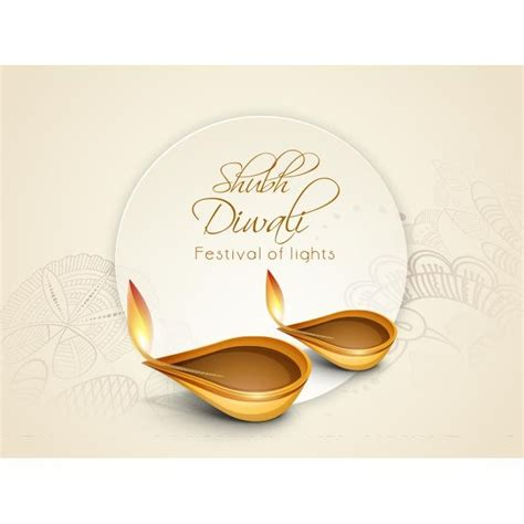 diwali greeting card templates free free vector shubh diwali typography logo with tag line
