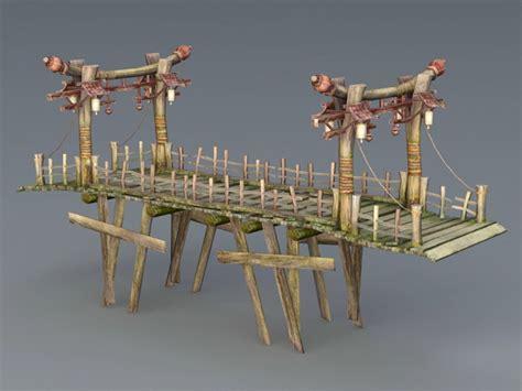 wooden bridge  model ds max files   modeling   cadnav