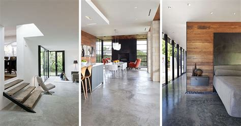 23 pictures that show how concrete floors been used throughout homes contemporist