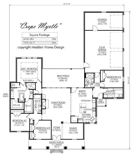 madden home design house plans madden home design the crepe myrtle madden home design