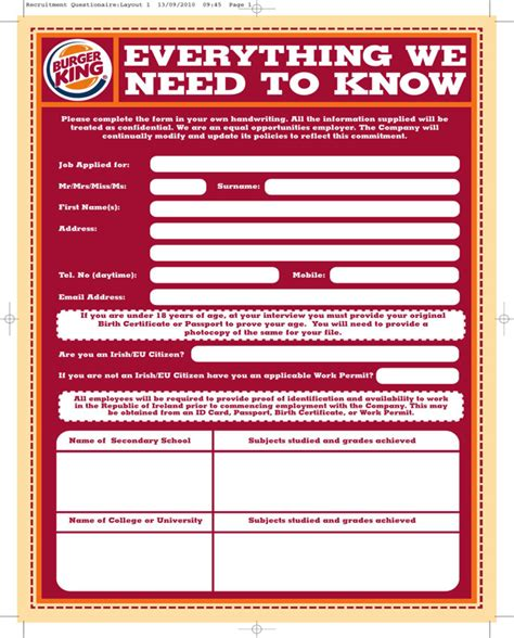 burger king receipt template burger king application form for free