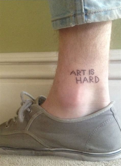 hard ink tattoo pretty tattoos is ankle simple