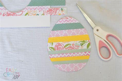 Crafts Using Scrapbook Paper - scrapbook paper easter egg easy craft easy crafts 101