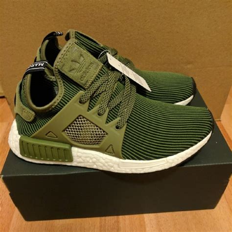 adidas shoes new nmd primeknit xr1 olive green size 7 poshmark