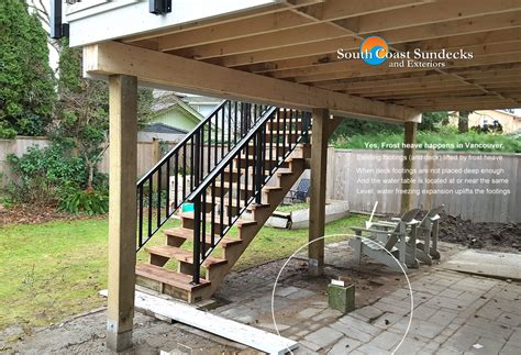 Patio Cover Post Footing by Everything Patio Sundeck Building Outdoor Living Space