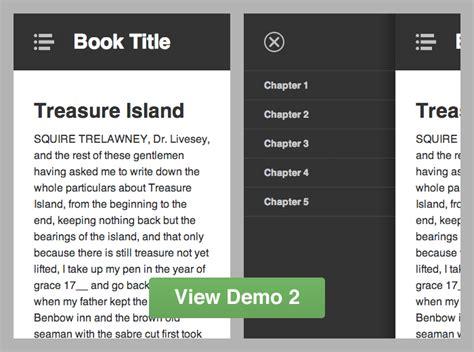 responsive design vertical menu menu quot type responsive quot application android