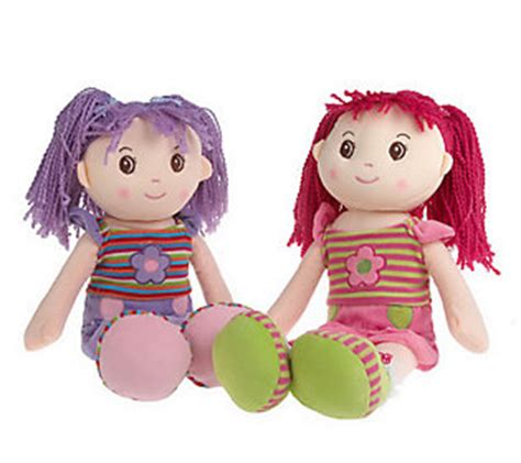 Zoe Lollipop Sets set of 2 lollipop kidz 20 soft bodied rag dolls qvc