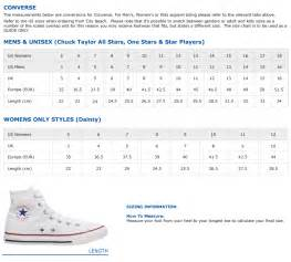 converse shoes size chart converse shoe size chart shoes for yourstyles