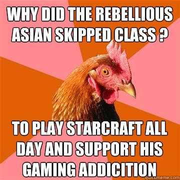 Rebellious Asian Meme - anti joke chicken memes quickmeme