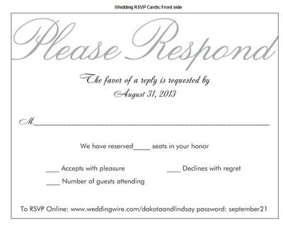 language for wedding rsvp cards how do i make it absolutely clear that guests do not