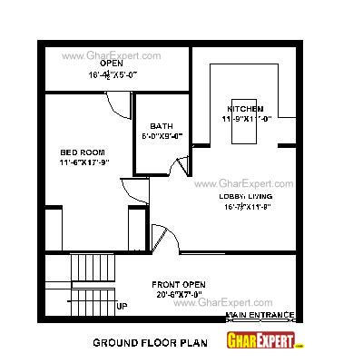 home design 550 sq ft house plan for 30 feet by 30 feet plot plot size 100