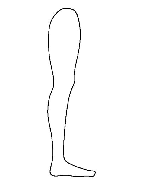 leg template pin by muse printables on printable patterns at