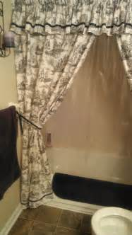 Items similar to made to order custom shower curtain with valance and tie backs on etsy