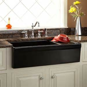 Farmhouse Kitchen Sink With Drainboard 36 Quot Aulani Italian Fireclay Farmhouse Sink With Drainboard Transitional Kitchen Sinks