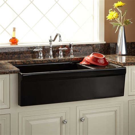 36 Quot Aulani Italian Fireclay Farmhouse Sink With Drainboard Italian Kitchen Sinks