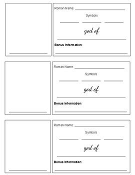 gods trading cards template god goddess trading card activity template by