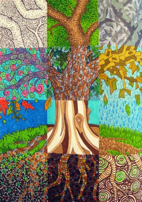 Patchwork Tree - patchwork tree by madelei on deviantart