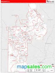 lake county fl zip code wall map line style by marketmaps