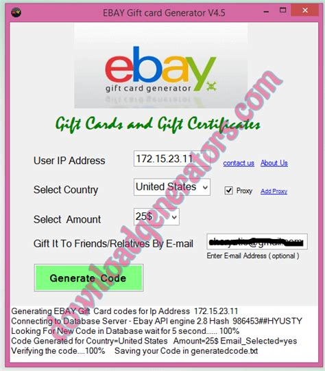 How To Use An Ebay Gift Card - free ebay gift card code generator no survey