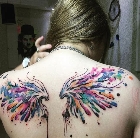 watercolor tattoo wings watercolor wings best design ideas