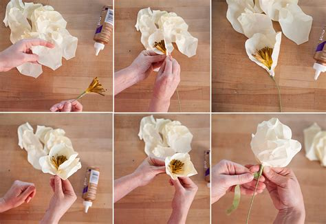 Steps For Paper Flowers - how to make paper flowers at home