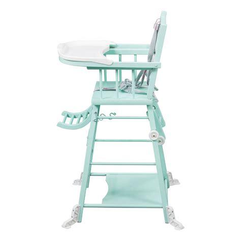 chaise haute transformable chaise haute transformable laqu 233 vert amande combelle design