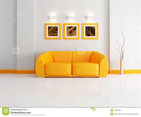 orange white room bright orange and white living room stock photos image 14990693