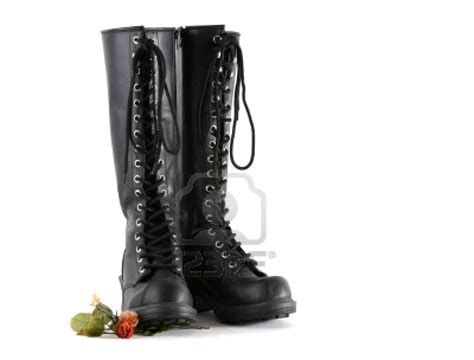 knee high leather boots wallpaper