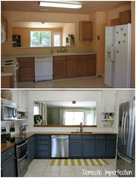 cheap kitchen makeover ideas before and after 37 brilliant diy kitchen makeover ideas