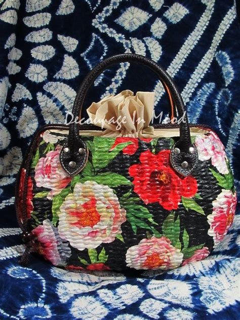 decoupage purse tutorial decoupage bag decoupage torebki buty walizki