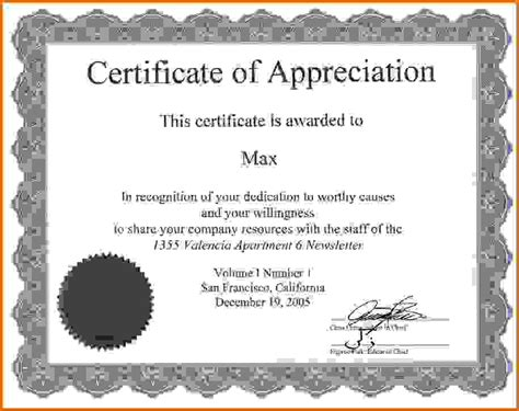 Certificate Letter Of Appreciation Certificate Of Appreciation Slesreference Letters Words
