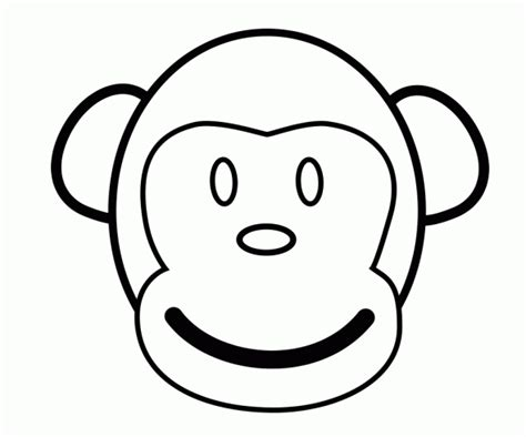 Coloring Page Of A Monkey Face | monkey coloring pages for kids kids world