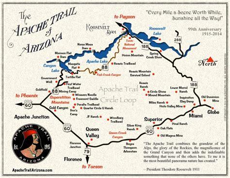 apache trail map the apache trail live laugh rv