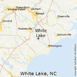 map of lakes in carolina best places to live in white lake carolina