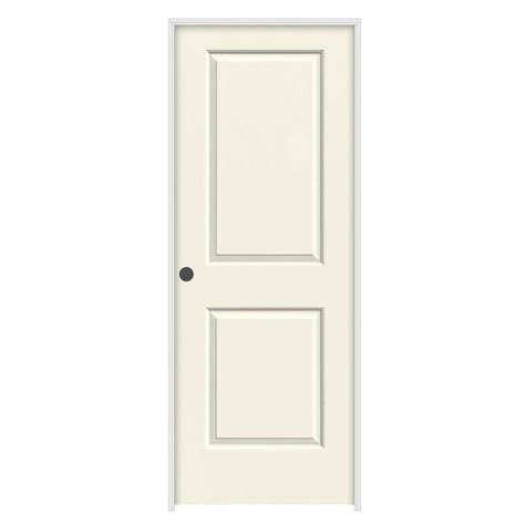 24 interior door jeld wen 24 in x 80 in molded smooth 2 panel square vanilla hollow composite
