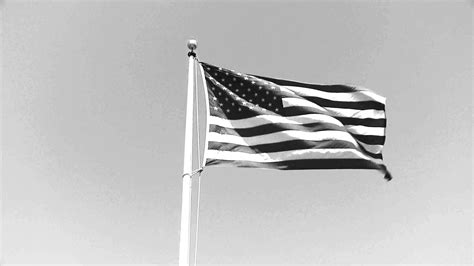 flag white black the american flag black and white