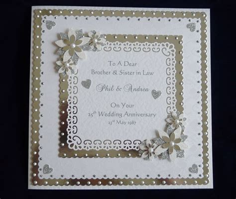 Personalised Silver or Diamond 25th/60th Wedding