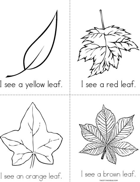 leaves fall down printable book fall leaves book twisty noodle