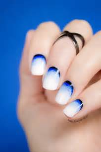 Blue ombre nail art newhairstylesformen2014 com