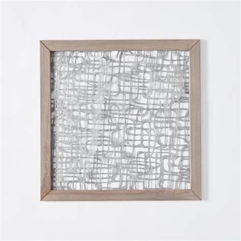Handmade Paper Wall - framed handmade paper wall neverending path west elm