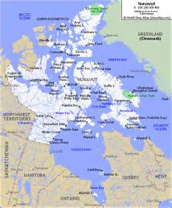 map of nunavut canada map of roads of nunavut maps of canada provinces and