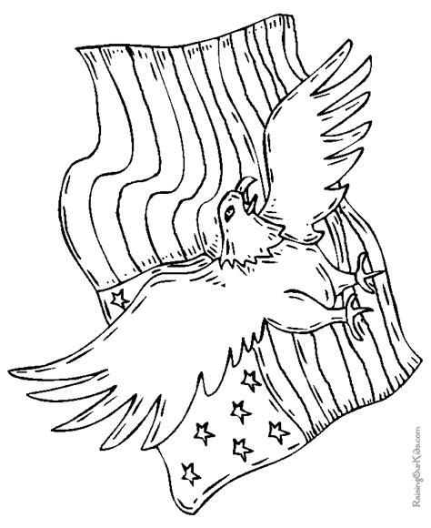 american flag with eagle coloring page patriotic american eagle drawings and coloring pages 006