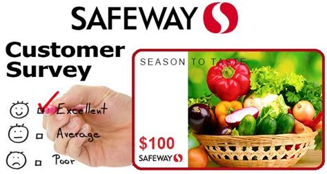 Safeway Gift Card Online - safeway survey sweepstakes win 100 safeway gift card sweepstakesbible