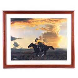 tim  framed western print