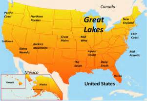 great lakes east map showing attractions accommodation