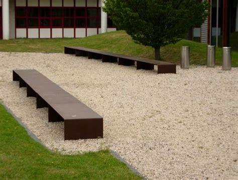 corten bench contemporary public benches corten steel garden pinterest
