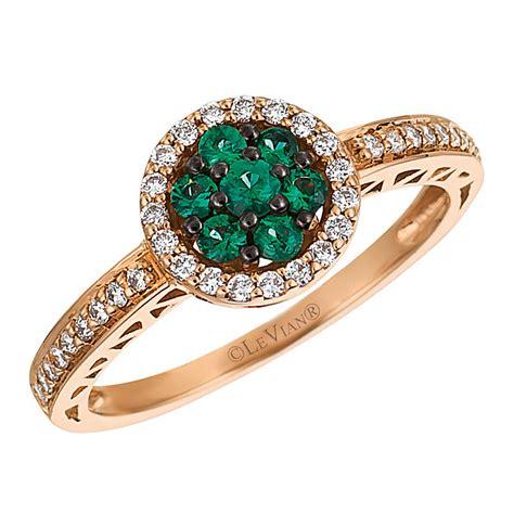 Costa Ring le vian 14ct strawberry gold costa smeralda emerald ring
