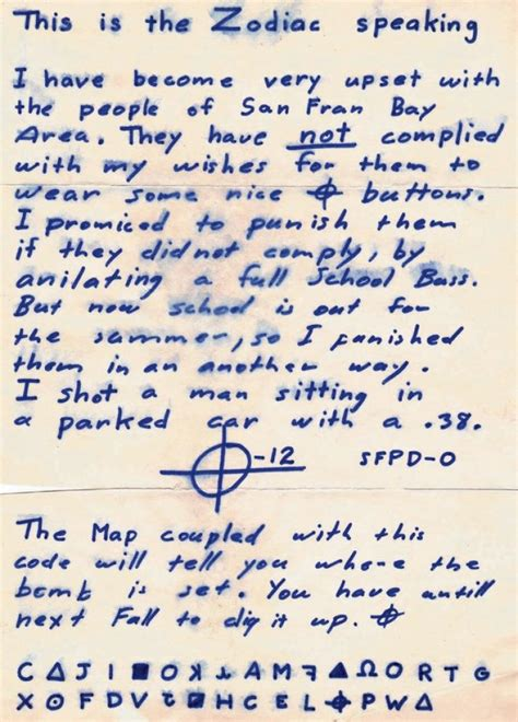 Service Information Letter Zodiac says now dead buddy confessed to being zodiac killer ny daily news