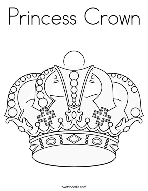 princess crown coloring page twisty noodle